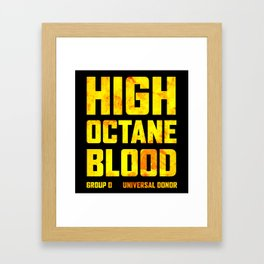 Mad Max Fury Road High Octane Blood Framed Art Print