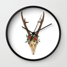 Boho Skull Wall Clock
