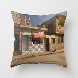 Beautiful and colourful little cafeteria in Trinidad, Cuba. Throw Pillow