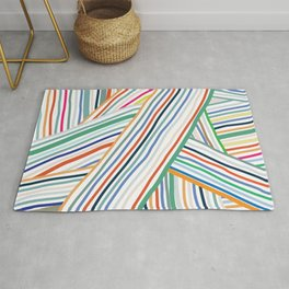 Abstract Line Pattern One Rug