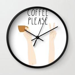 Coffee Please, Coffee Lover Wall Clock
