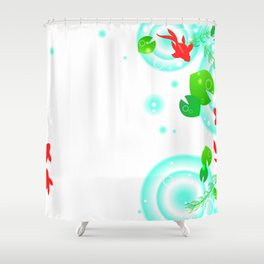 Koi Fish Pattern Shower Curtain