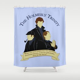 The Holmesly Trinity Shower Curtain