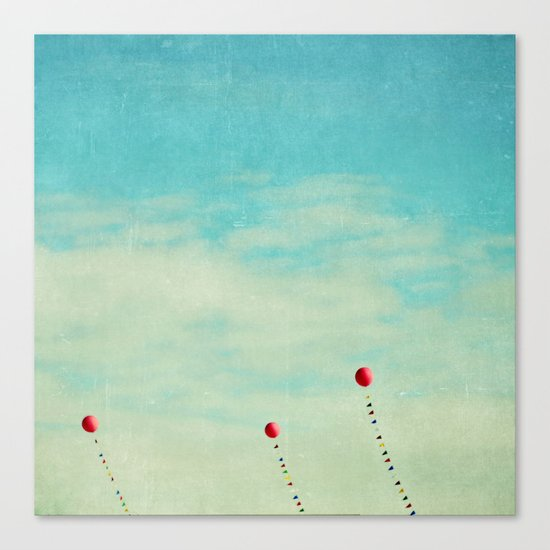 three red balloons II Canvas Print