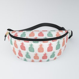 Tropical Pineapple Print Fanny Pack