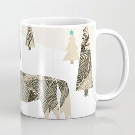 Winter Woods with Horse Coffee Mug