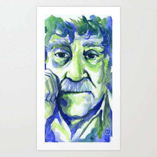 Green Vonnegut Art Print