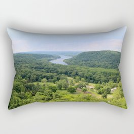 View from the top of Bowman's Tower Rectangular Pillow