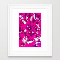 dangan ronpa Framed Art Prints featuring Hope's Peak Academy by Blue