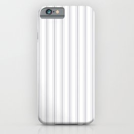 Soft Grey Mattress Ticking Wide Striped Pattern - Fall Fashion 2018 iPhone Case
