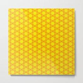 Yellow Cheese Pattern Metal Print