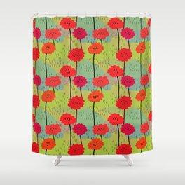 Fiori allegri stilizzati Shower Curtain