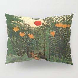 "Henri Rousseau ""Tropical Landscape - subtitled An American Indian Struggling with a Gorilla"" Pillow Sham"