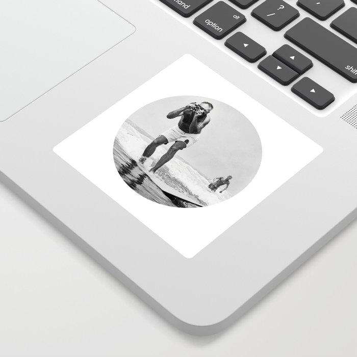 The Surfing Photographer Sticker