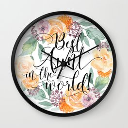 Best Aunt in the World Wall Clock