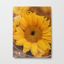 Sunflower Oilpainting Metal Print