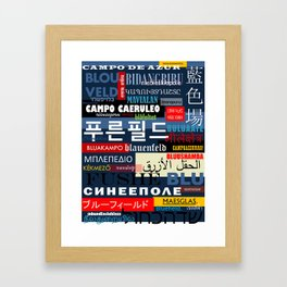 Bluefield. Framed Art Print