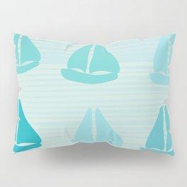Funny Sailboat Race Pillow Sham