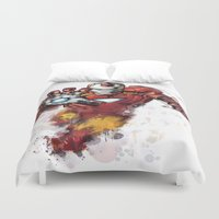 iron man Duvet Covers featuring Iron Man by Isaak_Rodriguez