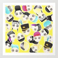 BIGBANG Collage (Yellow) Art Print