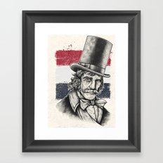 The Butcher Framed Art Print