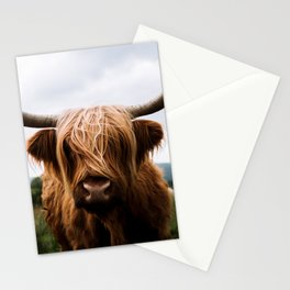 Scottish Highland Cattle in Scotland Portrait II Stationery Cards