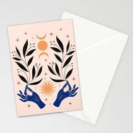 Sun Moon Plants Stationery Cards