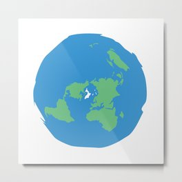 Flat Earth Ice Wall. - Gift Metal Print