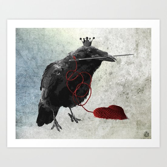 weaving hearts Art Print