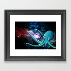octopus astronaut  Framed Art Print