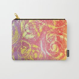 Gelatin Monoprint 5 Carry-All Pouch