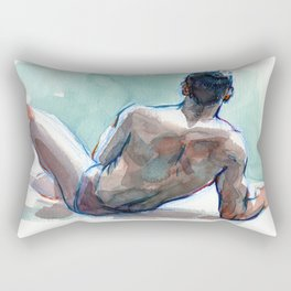 MICHAEL, Semi-Nude Male by Frank-Joseph Rectangular Pillow