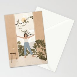 Be brave enough to be bad at something new Stationery Cards