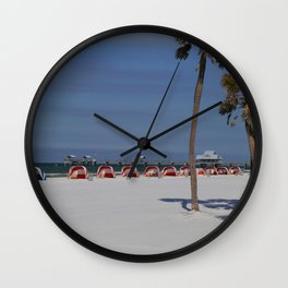 A November Day At Clearwater Beach Wall Clock