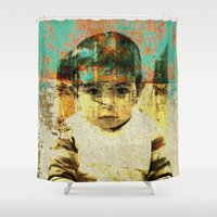 boy Shower Curtains featuring Boy by Lia Bernini