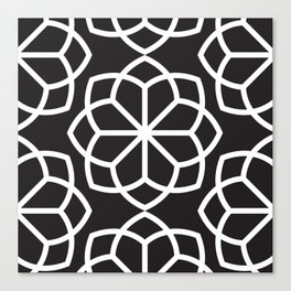 Asian Flower Pattern Canvas Print