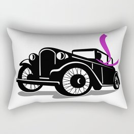 Vintage Coupe With Flowing Scarf Retro Rectangular Pillow