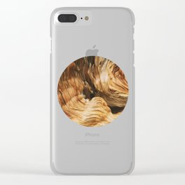 Abstract Wood Design Clear iPhone Case