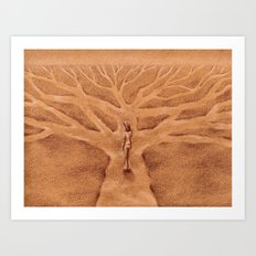 Paths like Branches Art Print