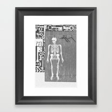 SKELETON IN THE CLOSET Framed Art Print