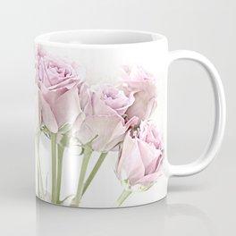 Shabby Chic Pastel Pink Roses Coffee Mug