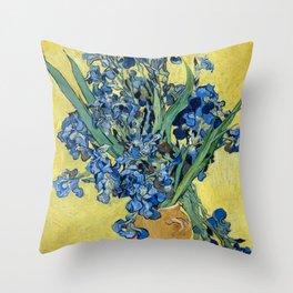 1890-Vincent van Gogh-Irises-73,5x92 Throw Pillow
