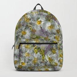 CISTUS LAURIFOLIUS  ROCK ROSE FLOWERS Backpack