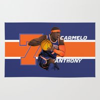 nba Area & Throw Rugs featuring NBA Stars: Carmelo Anthony by Akyanyme