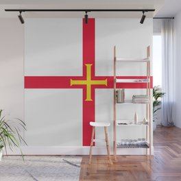 flag of Guernsey Wall Mural
