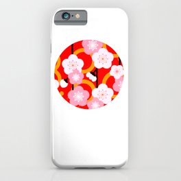 Japanese Circle 2 Cherry Tree Sakura iPhone Case