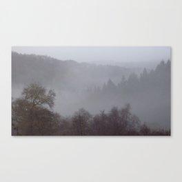 West Dartmoor valley in the mist Canvas Print