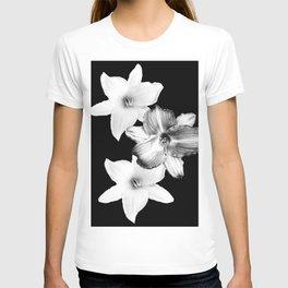 White Lilies on Black #1 #floral #decor #art #society6 T-shirt