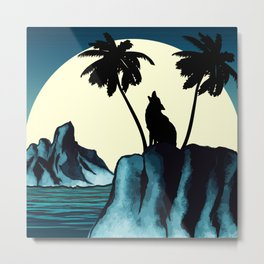 Wolf Bay Metal Print