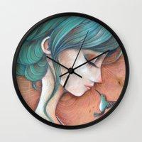 infinity Wall Clocks featuring Infinity by Alessandra Fusi
